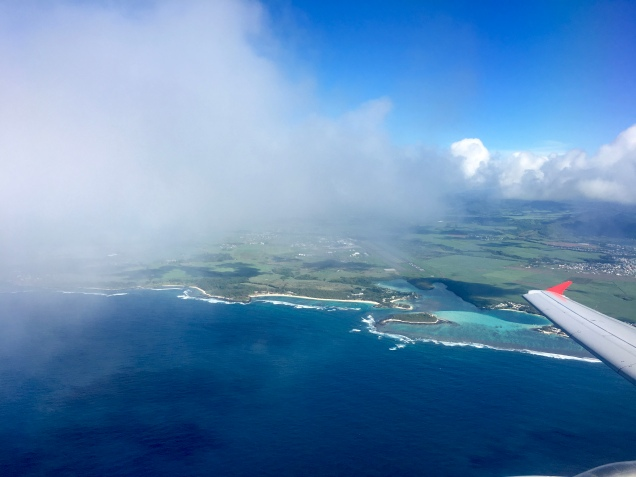 Take off from Mauritius