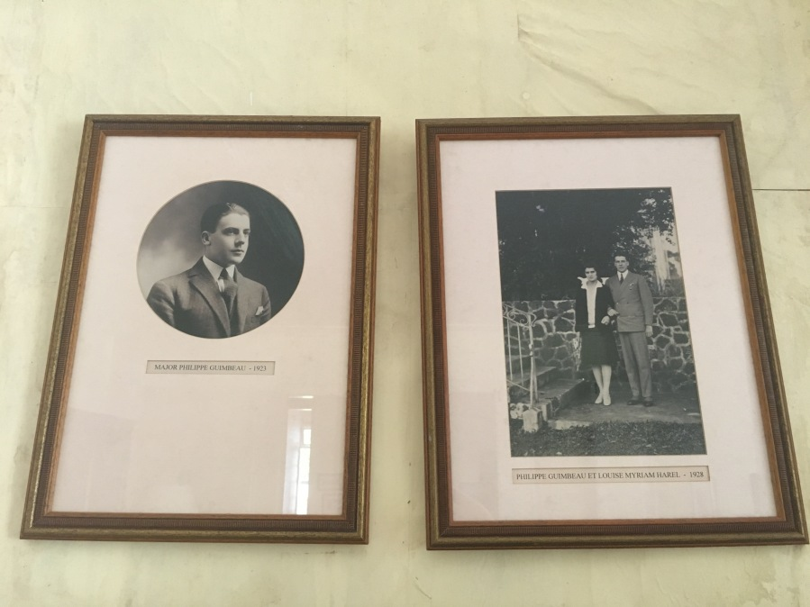 Major Philippe Guimbeau to the left. The Major and his future wife Myriam to the right. Pictures are from the 1920s