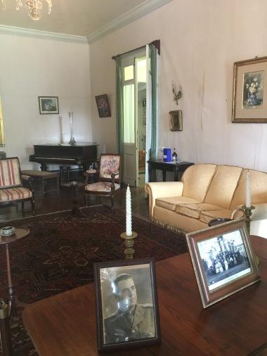 Music room at Domaine des Aubinaux, Mauritius