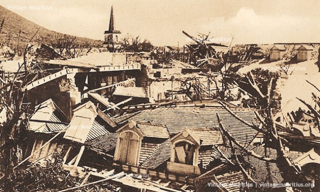 Port-Louis-Cyclone-1892-Poudriere-Street-St-James-Cathedral