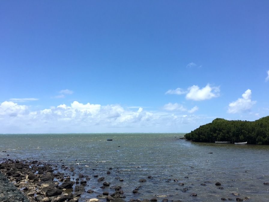 View from Monument St Géran, Poudre d'Or, Mauritius - shipwreck of Saint Géran - Poudre d'Or, Mauritius Things to do in Mauritius - Visits in Mauritius - Story of Paul et Virginie - Wandering Expat Family, Mauritius Travel Blog #Mauritius #traveltips #Ilemaurice #diving #island #holidays