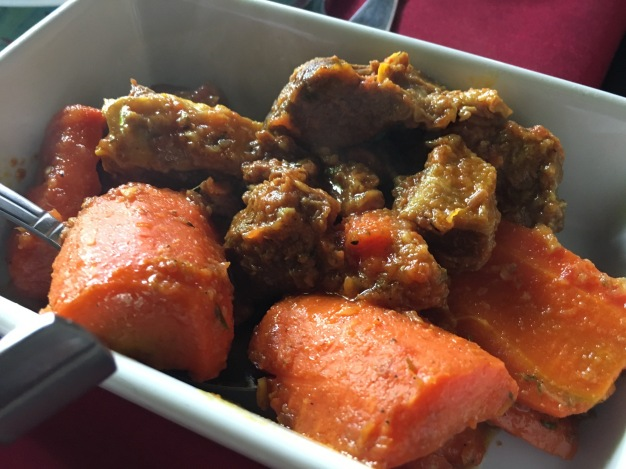 Stewed beef and carrots - one of the best restaurants in the Grand Anse area of Reunion Island. #food #reunion #lareunion #restaurant