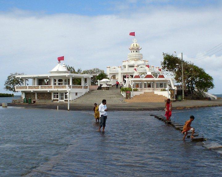 Old picture of Sagar Shiv Mandir, a hindu temple in Mauritius - #mauritius