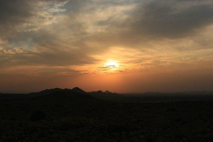 Sunset at Feynan Eco Lodge, Dana Reserve, Jordan
