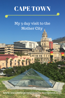 3 day visit to Cape Town