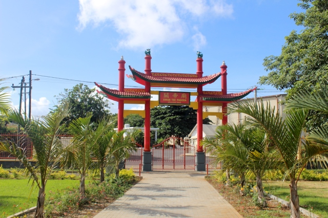 Back entrance to Kwan Tee Pagoda, Port Louis