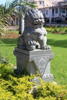 Statue at Kwan Tee pagoda - Chinese Temple in Port Louis Chinese Heritage in Mauritius Things to do in Mauritius Things to do in Port Louis #Mauritius #Ilemaurice #Portlouis