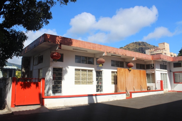 Outside building at Kwan Tee pagoda - Chinese Temple in Port Louis Chinese Heritage in Mauritius Things to do in Mauritius Things to do in Port Louis #Mauritius #Ilemaurice #Portlouis