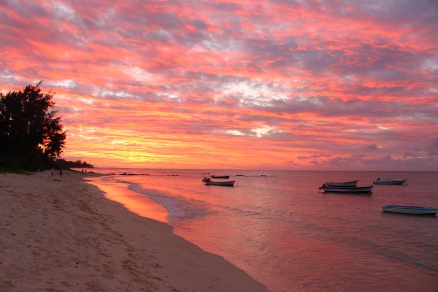 Sunset in Mauritius