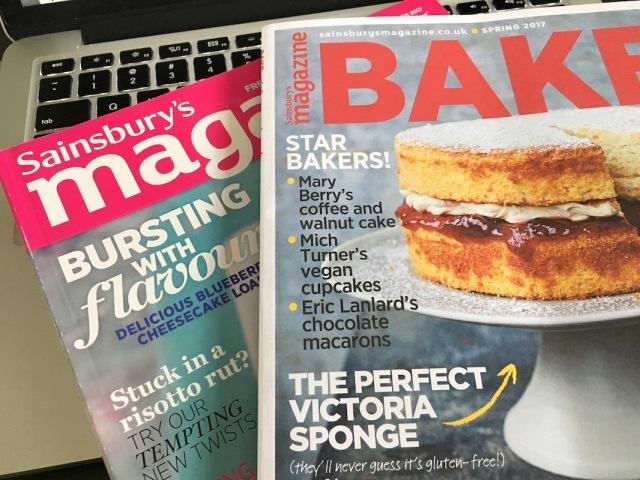 Sainbury's baking magazine