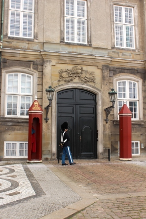 Guard at Amalienborg, Royal Residence, Copenhagen