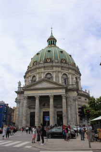 Frederik's church or Marble Church in Copenhagen - located close to Amalienborg