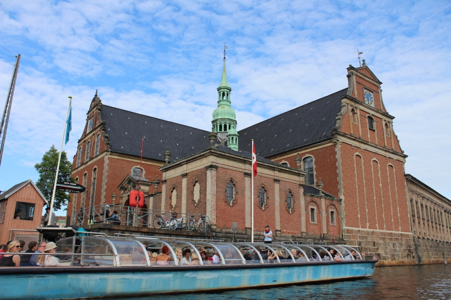 Holmens kirke, view from the canals in Copenhagen.