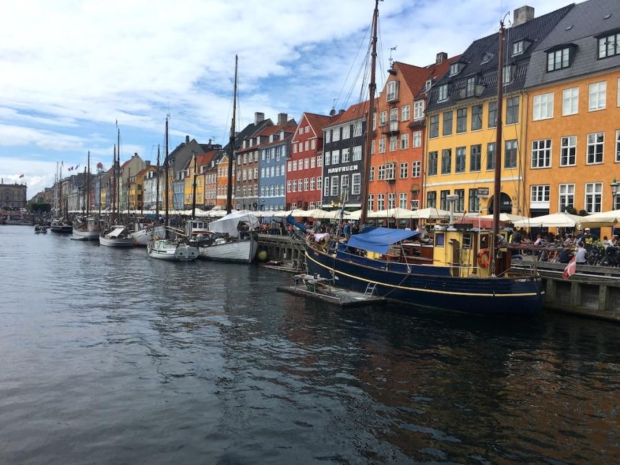 Nyhavn on a summer day, Copenhagen, Denmark