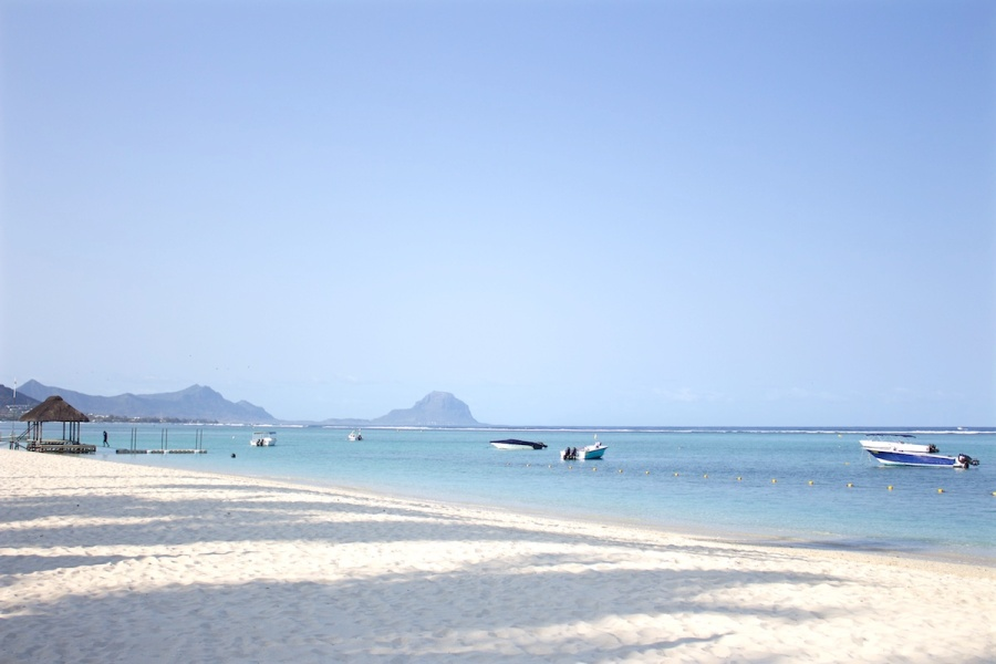 Beach view with Le Morne Braband, A Unesco World Heritage Site