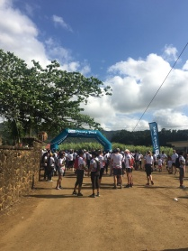 Start Line - 4km kids race at CIEL Ferney Trail