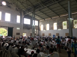 Lunch Hall at the CIEL Ferney Trail for all participants