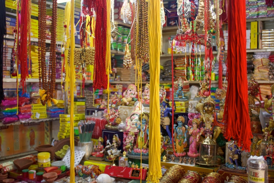The Hindi shops at the Bazar in Port Louis in Mauritius