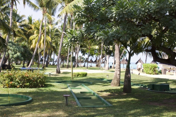 Mini golf, beach volley and giant chess - activities at La Pirogue Resort in Mauritius