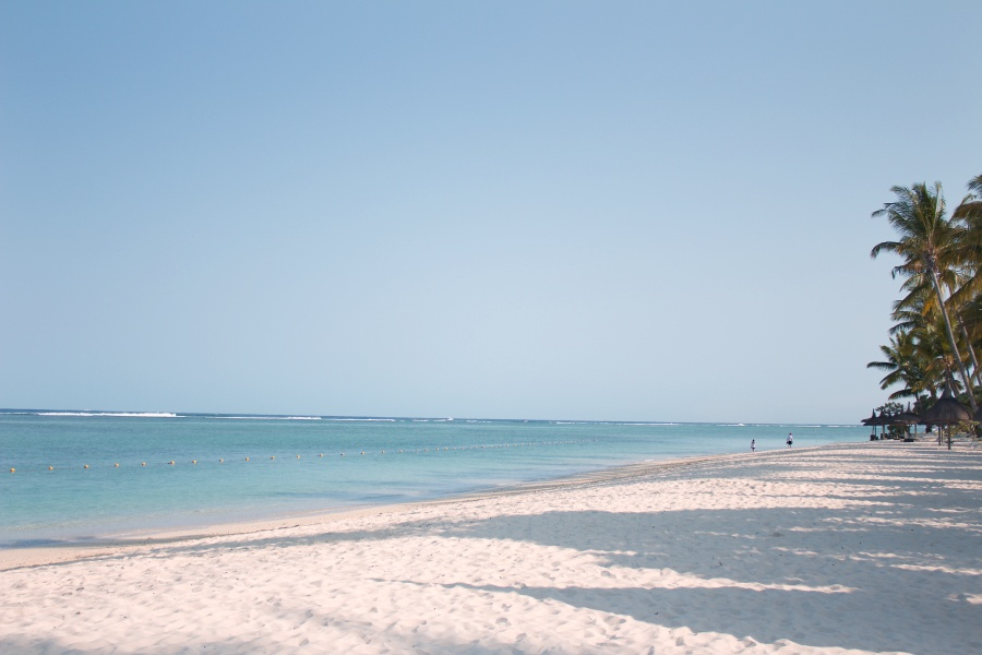 Beach at La Pirogue, Mauritius -
