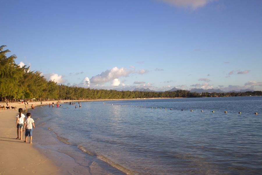 beach on Mont Choisy, Grand Baie beach, North of Mauritius
