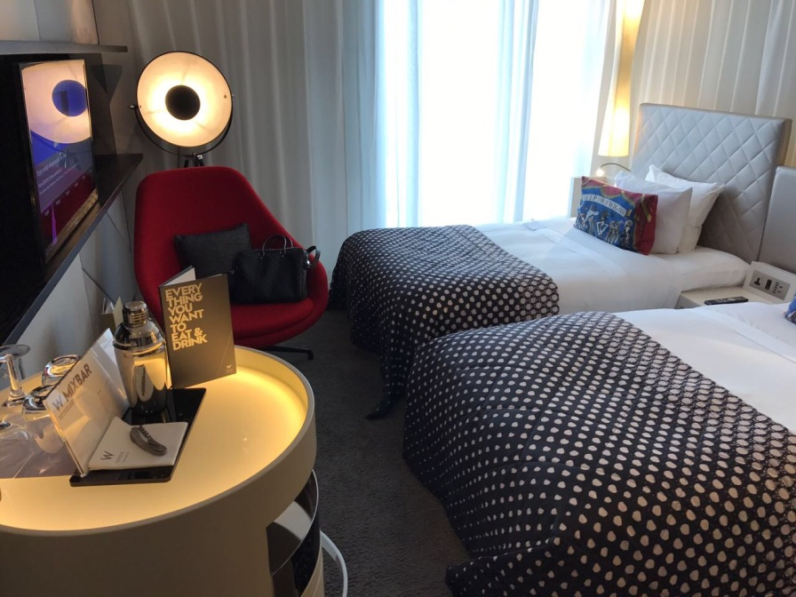Fabulous room at the W Leceister Square Hotel in London