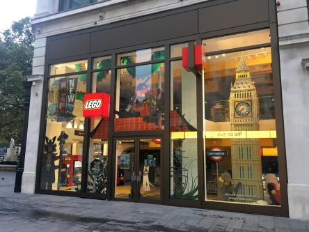 Amazing Lego Store on Leicester Square in London