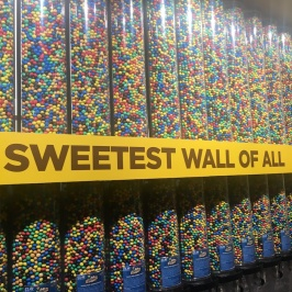 M&Ms 'sweetest wall of all' in the M&Ms store on Leicester Square in London