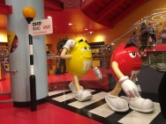 M&Ms walk in the M&Ms store on Leicester Square in London