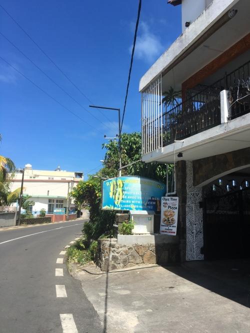 Entrance to Chez Tino Restaurant, at Trou d'eau Douce - A favorite