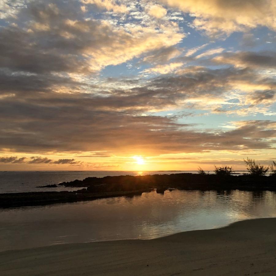 Sunrise in Belle Mare, East Coast of Mauritius