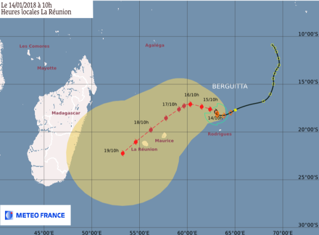 Prevision for Cyclone BERGUITTA