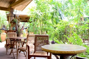 View of sitting arrangement at Le Manta in Saint-Gilles-Les-Bains, Reunion Island