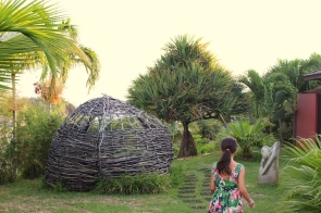Gardens at sunset - Palm Hotel and Spa, Petite Ile, Reunion Island