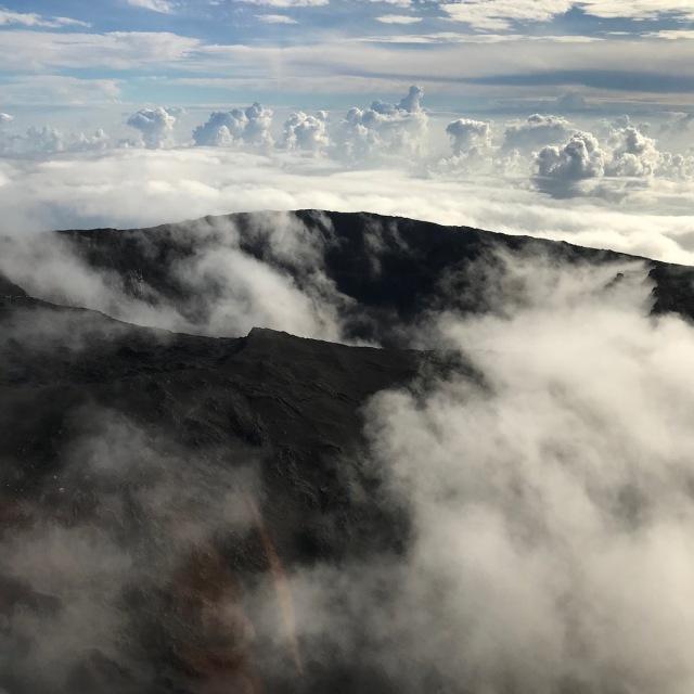 Active volcano in Reunion Island - Piton de la Fournaise