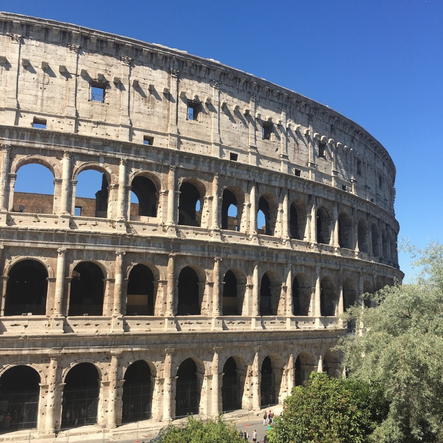 View of The Colosseum in Rome as seen from the Big Bus Tour