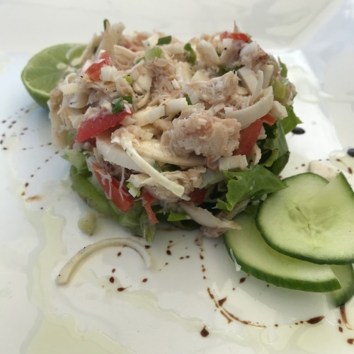 Fresh palm heart salad is a traditional dish in Mauritius.