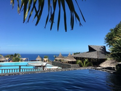 View from Palm Hotel and Spa - a beautiful 5* hotel in Grand' Anse - a small village in the south of Reunion Island