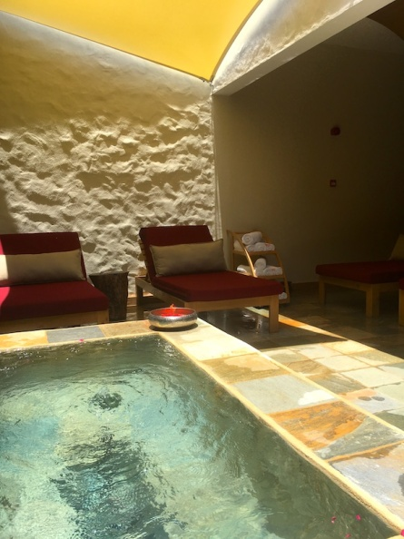 View of one of the many relaxation areas a Spa Cinq Mondes, LongBeach Mauritius