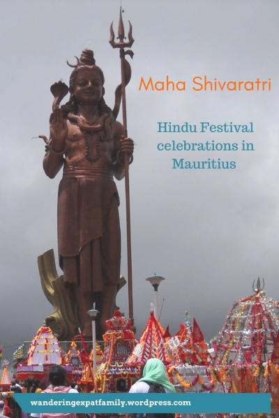 Statue of Shiva at Ganga Talao, Mauritius - Maha Shivaratri is one of the most famous Hindu festivals in Mauritius. Pilgrims walk to Ganga Talao to pray and collect water in the sacred lake. #Mauritius #festival