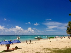 Beautiful Beach in Trou aux Biches in Mauritius. Family beach with lots of fun activities