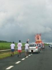 Procession on the road during Maha Shivaratree