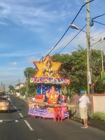 a Kanwar on the road in St Julien d'Othman, Mauritius