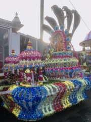 A Kanwar in Front of a Temple in Nouvelle Découverte, #Mauritius