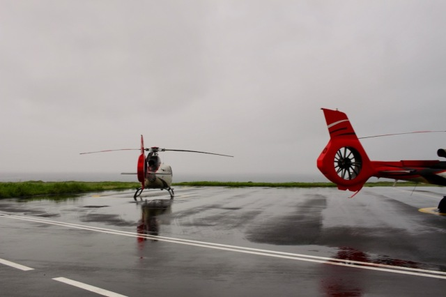Corail Helicopters at Pierrefond Airport, Saint-Pierre in Reunion Island
