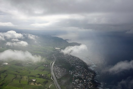 view of the coast of Reunion Island