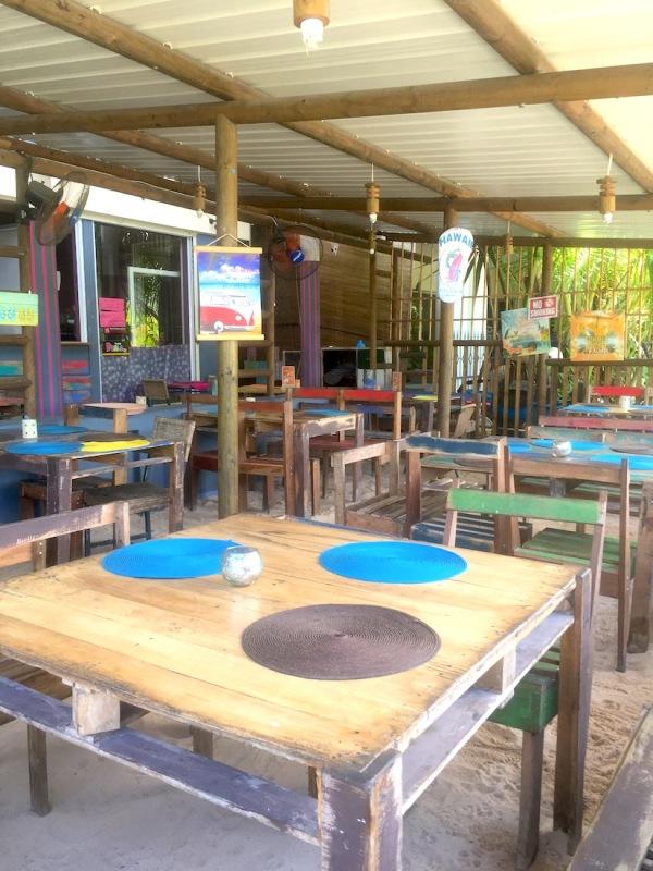 Sitting arrangement at La Voglia Matta in Trou aux Biches - best pizzeria in Mauritius