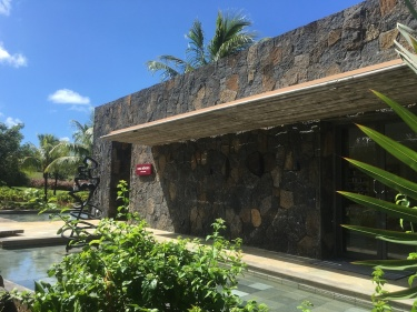 View of the entrance of Cinq Mondes Spa, LongBeach Mauritius