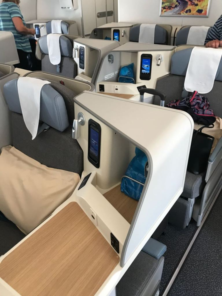 Business Class Cabin on new A350 Air Mauritius