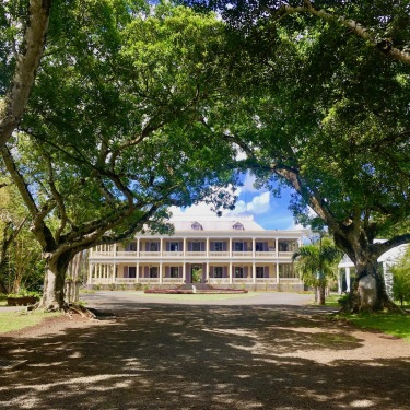 Chateau de Labourdonnais seen from the alley - Cultural visits in Mauritius, Things to do in Mauritius - #mauritius #visit #travel